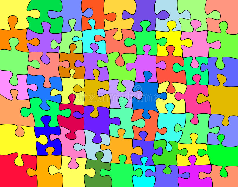 Colorful jigsaw stock illustration