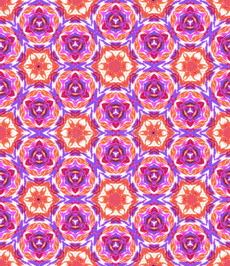 Tie Dye, Shibori Seamless Pattern Stock Illustration