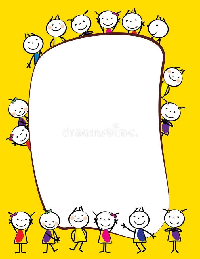 Colorful kids frame royalty free illustration