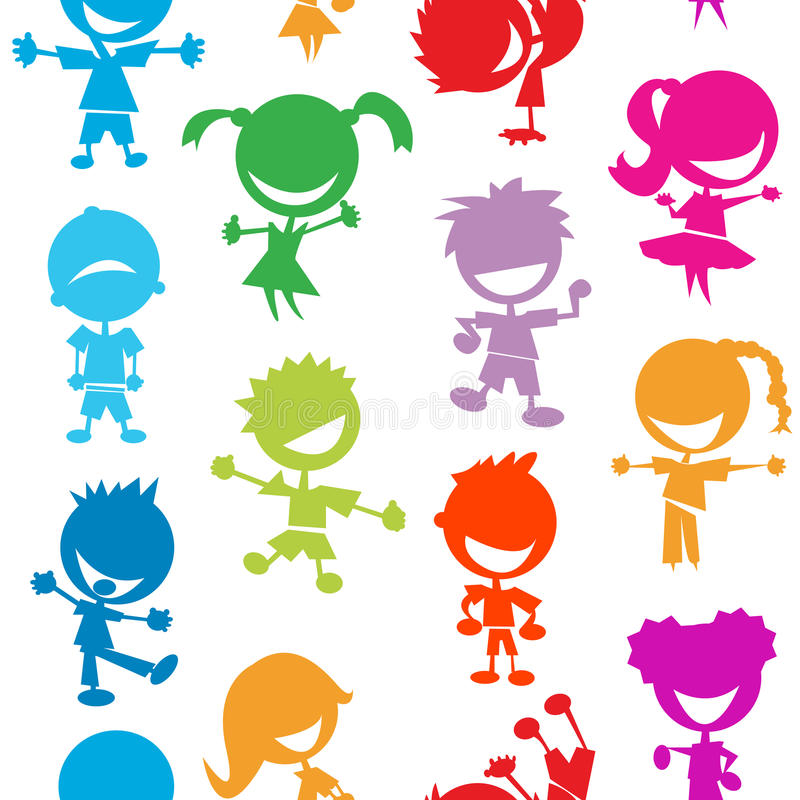 Download Colorful Kids Seamless Pattern Stock Vector - Image: 24639015