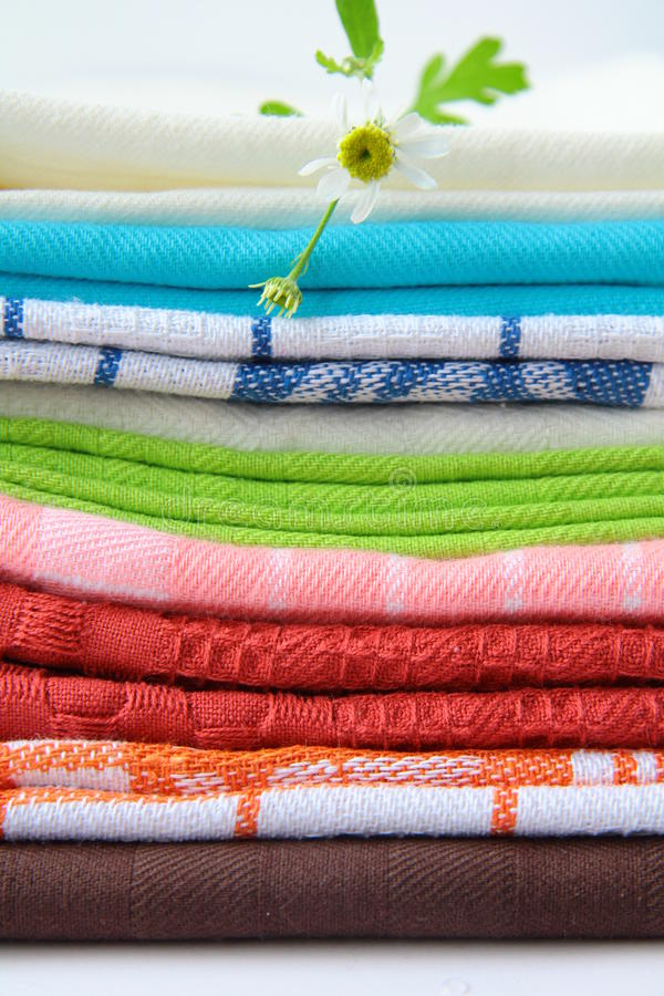 Download Colorful kitchen towels stock photo. Image of blue, kitchen - 16183018