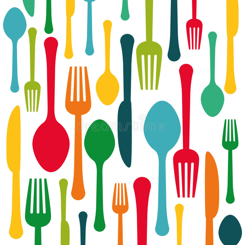 Colorful kitchen utensils background icon stock for Utensilios de cocina fondo