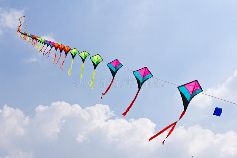 Download Colorful of kite stock photo. Image of descriptive, outdoors - 18153090