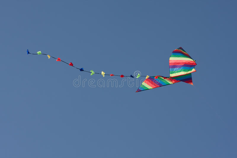 Download Colorful kite in the air stock image. Image of sport - 11355353