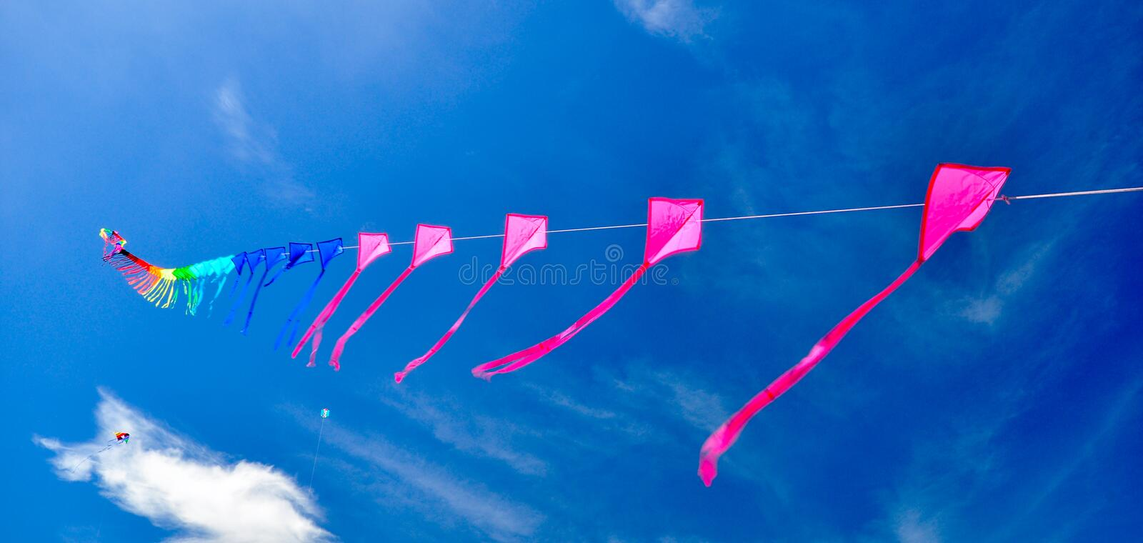 Colorful Of Kites Stock Image