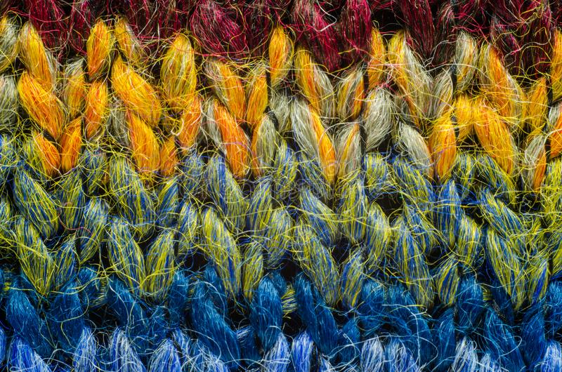 Colorful Knit Fabric Texture. stock images