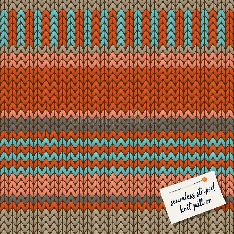 Colorful knitted striped seamless background pattern. stock illustration