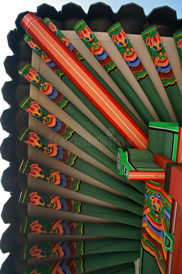 Korean Wooden Roof royalty free stock image