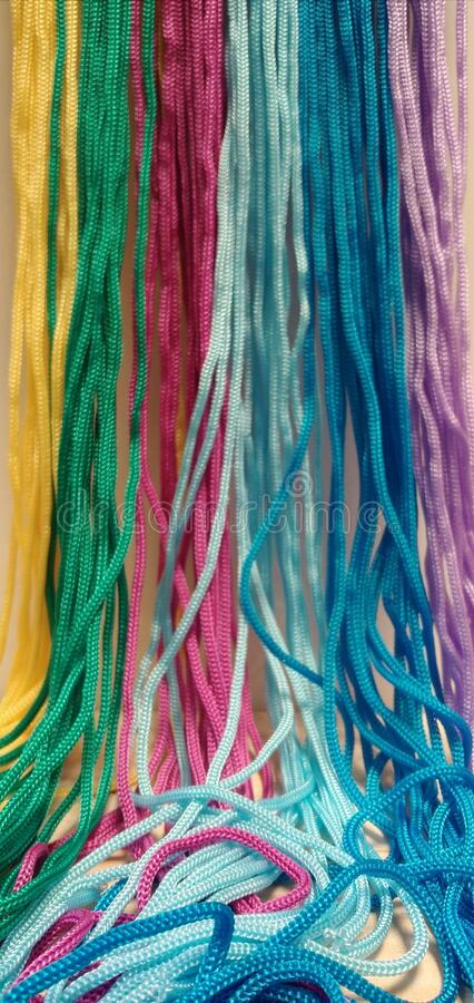 Colorful kur rope stock photo