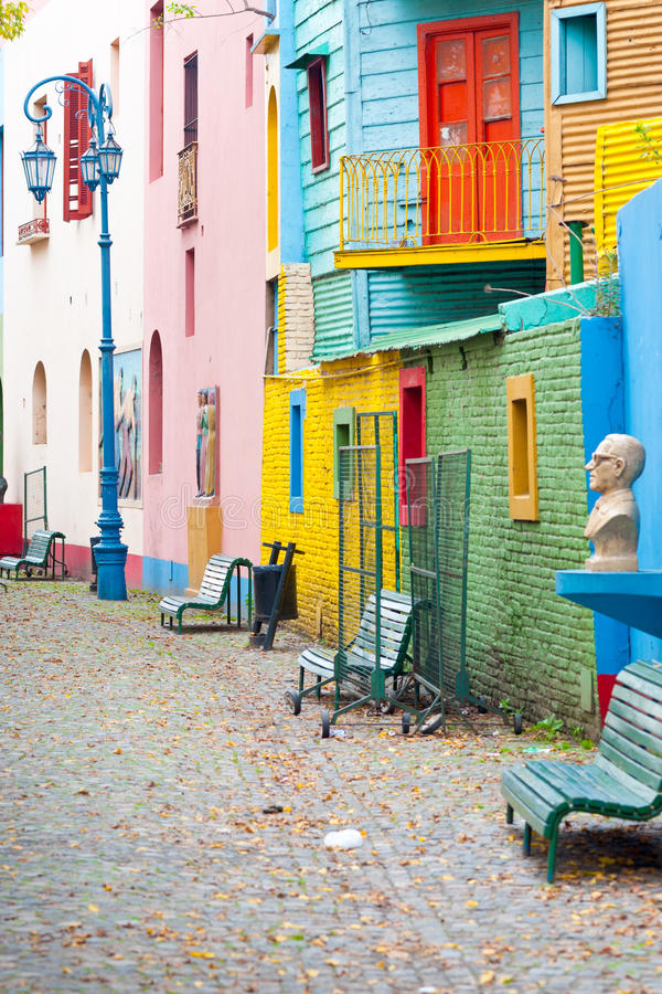 Colorful La Boca, Buenos Aires royalty free stock photos