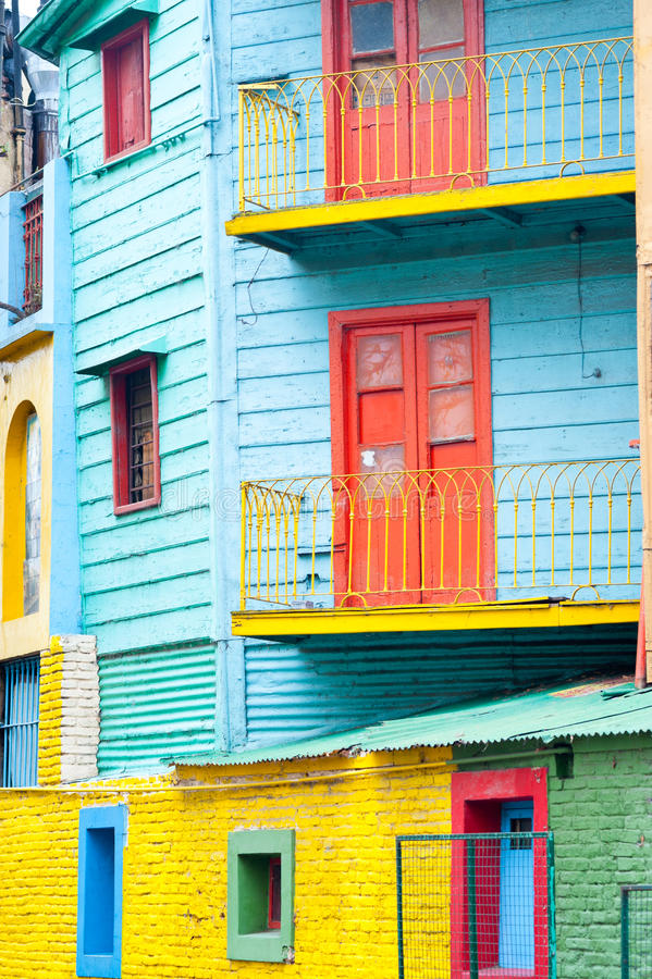 Colorful La Boca, Buenos Aires. This image shows Colorful La Boca, Buenos Aires stock photos