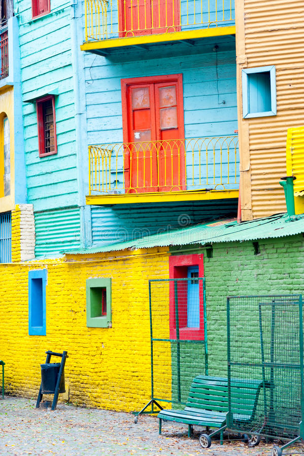 Colorful La Boca, Buenos Aires royalty free stock images