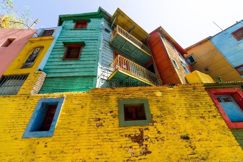 Colorful La Boca district of Buenos Aires, Argentina. Beautiful La Boca of Buenos Aires, Argentina. South America stock images