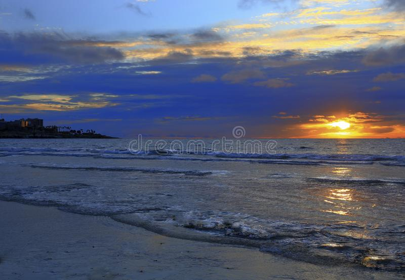 Colorful La Jolla Shores Sunset royalty free stock photos