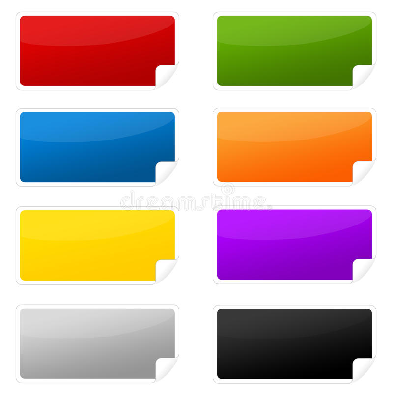 Download Colorful labels stock illustration. Image of blank, green - 19849992