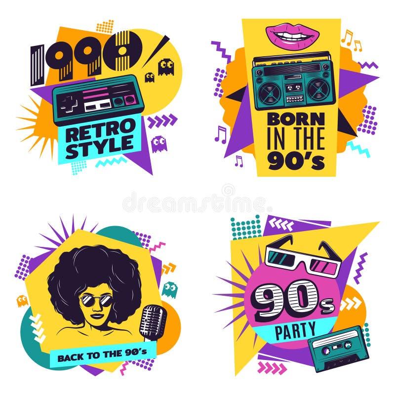 Colorful Labels Set vector illustration