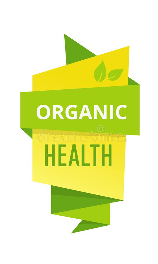 Eco-friendly natural healthy organic food, farm, biological labels, tags. royalty free illustration
