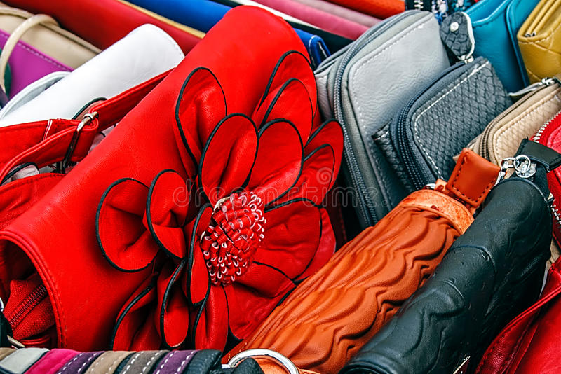 Download Colorful ladies purses stock image. Image of ornament - 39514793