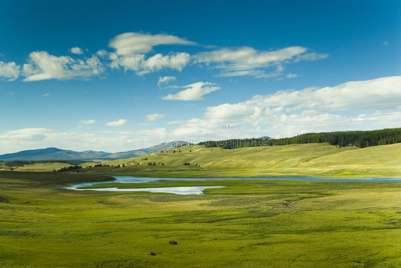 Colorful Lamar Valley stock images