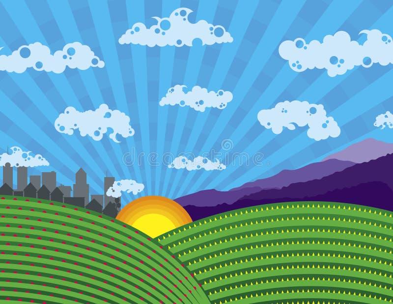 Download Colorful Landscape stock vector. Image of farmland, green - 9029957