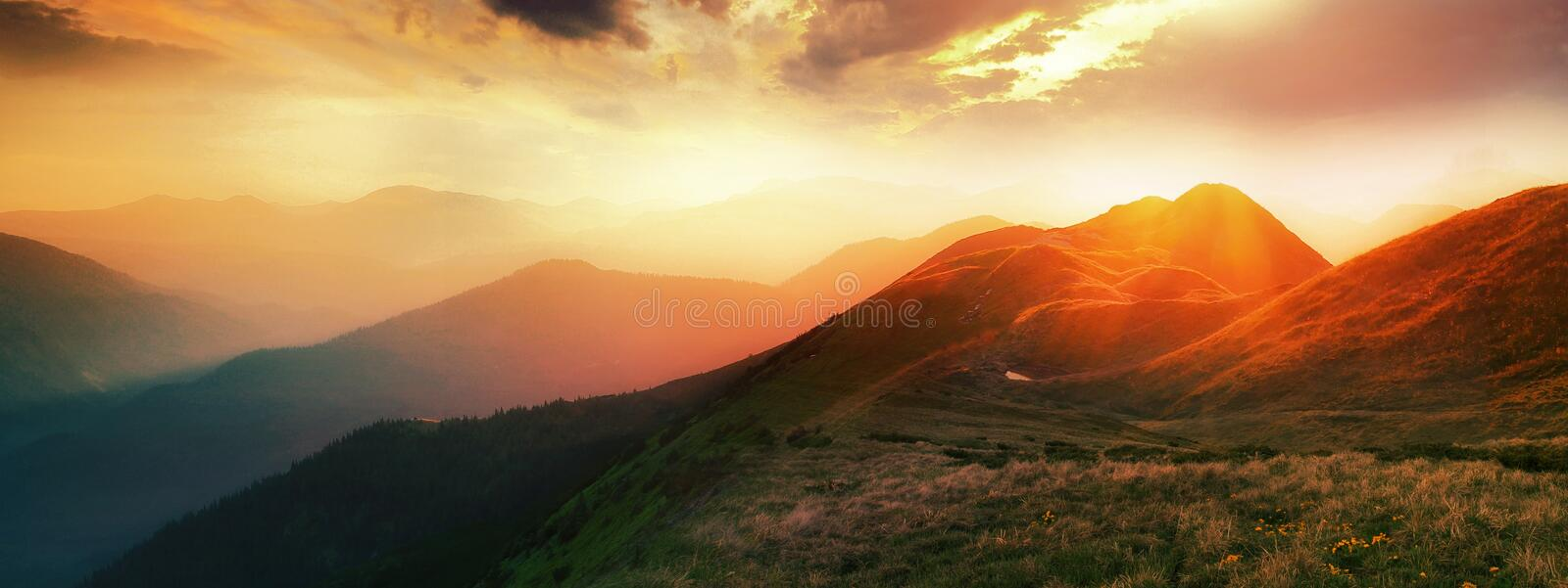 Colorful landscape in the mountains, America travel, beauty world stock image