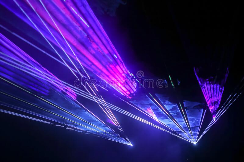 Colorful laser show royalty free stock photos