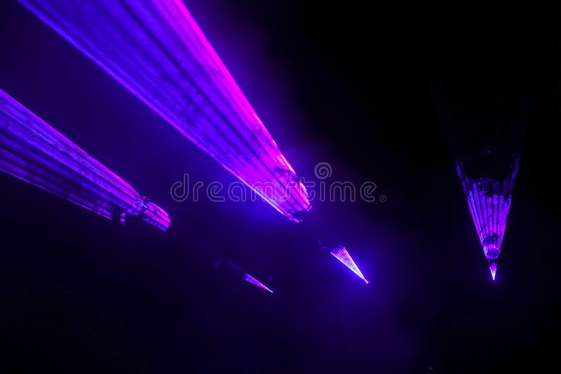 Colorful laser show royalty free stock images