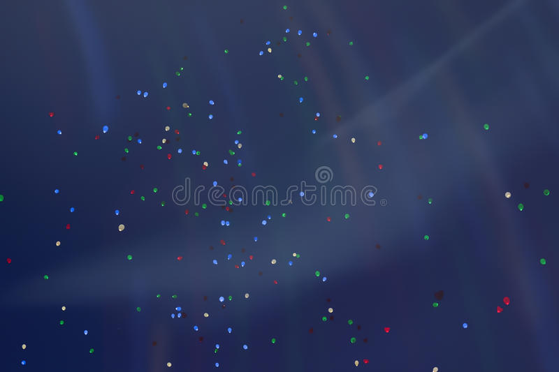 Colorful LED balloons flying fly away in the sky at night with additional iridescent lighting. Many vivid fabulous stock photos