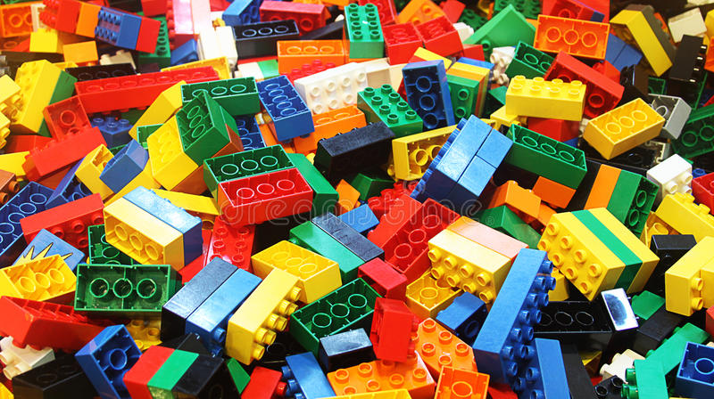 Colorful lego royalty free stock photography
