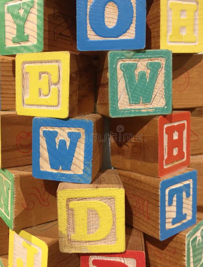 Colorful letter blocks royalty free stock image