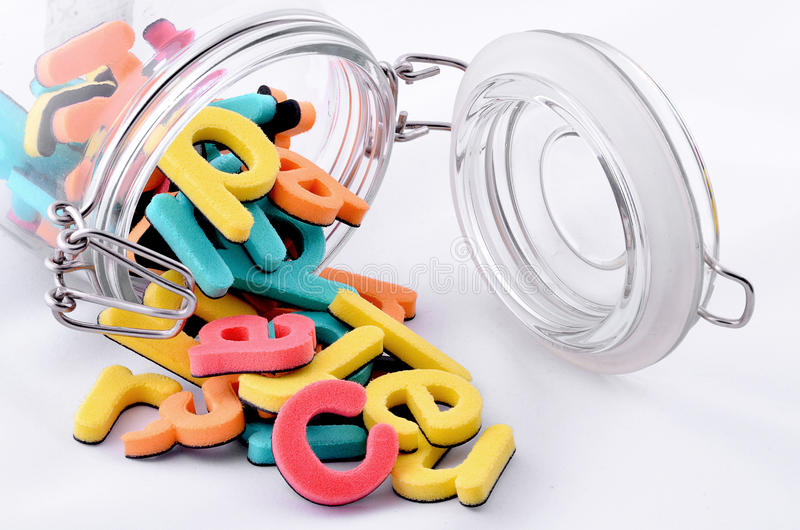 Download Colorful Letters In The Jar Stock Photo - Image: 28901552
