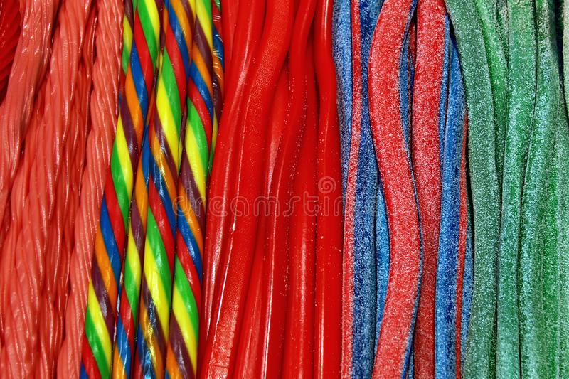 Colorful licorice royalty free stock photography