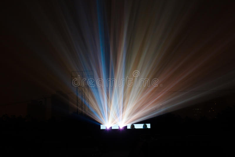 Download Colorful Light Beam From Movie Projector Royalty Free Stock Image - Image: 22283426