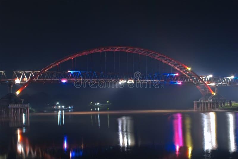 Colorful light bridge stock images