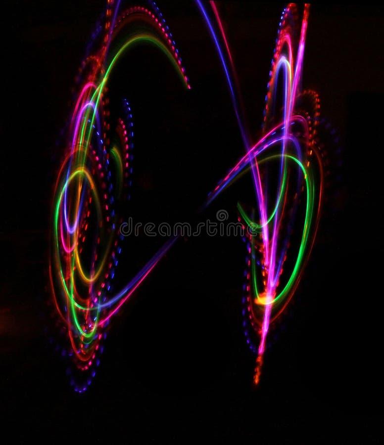 Colorful light luminous texture on black. Colorful lights luminous texture on black background royalty free illustration