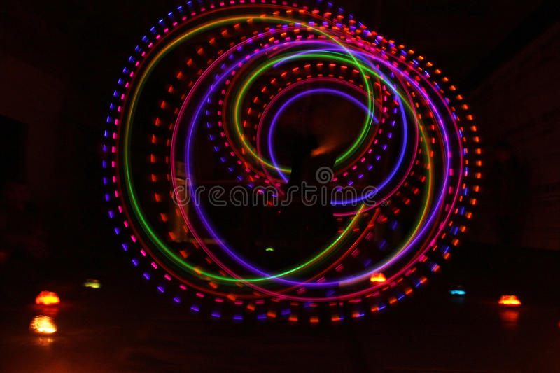 Download Colorful Light Luminous Texture On Black Stock Illustration - Image: 95385169