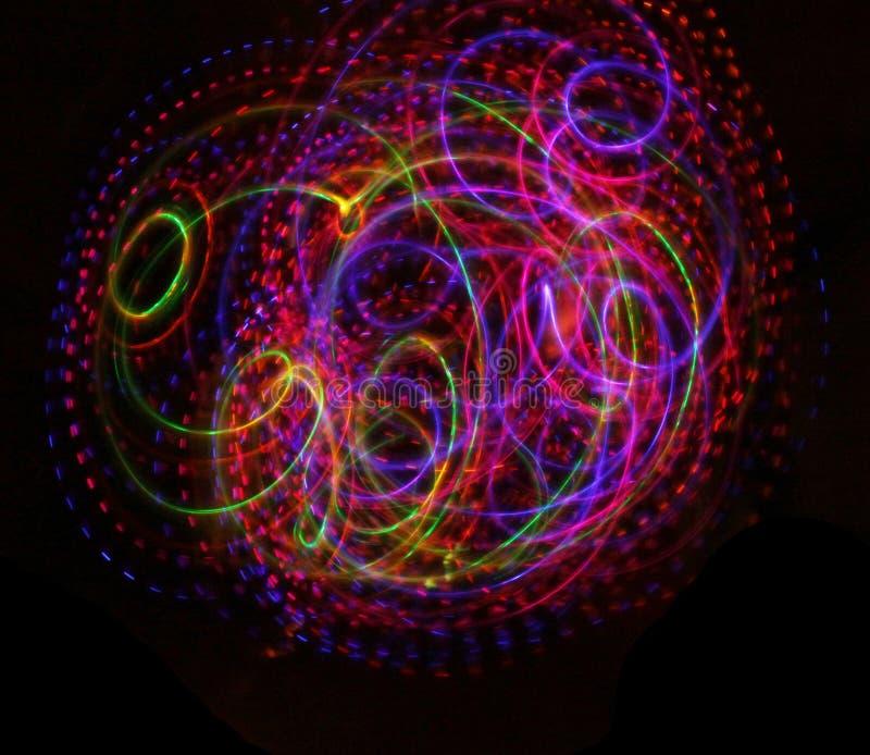 Colorful light luminous texture on black. Colorful lights luminous texture on black background vector illustration