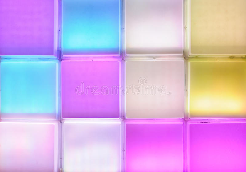 Colorful light wall royalty free stock images