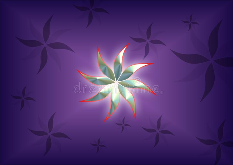 Colorful and lighted computer generated 3 d flower background image stock illustration