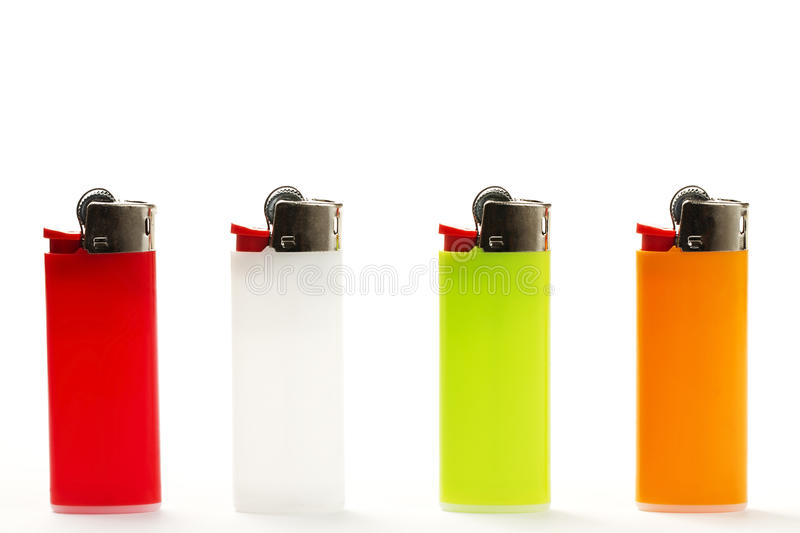 Download Colorful lighter row stock image. Image of ignite, green - 15293775