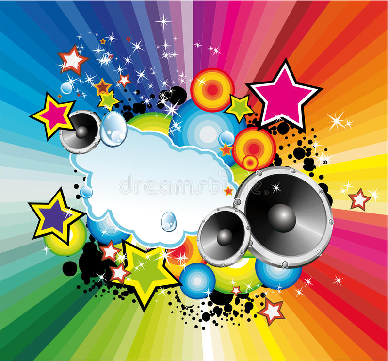Free Colorful Lights And Music Background Stock Photography - 9788332