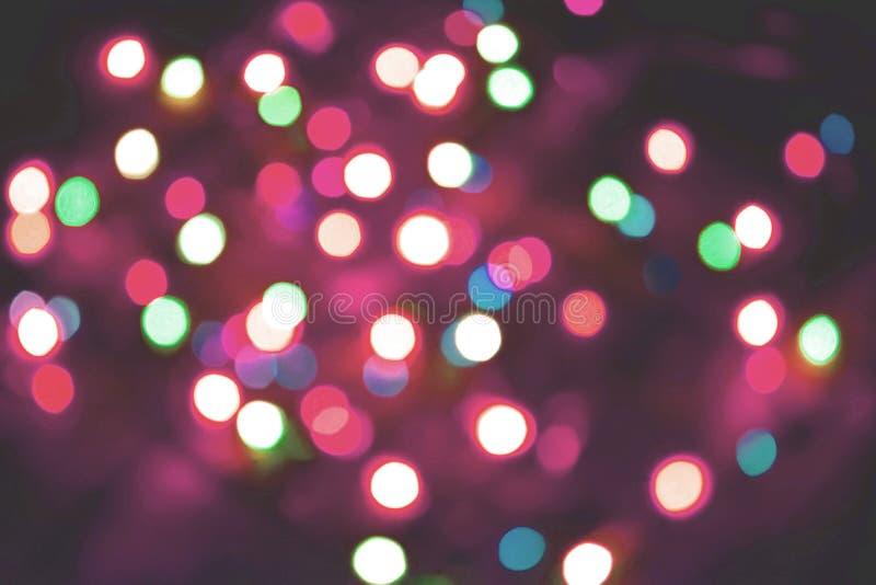 Colorful lights bokeh background, Chrismas royalty free stock image
