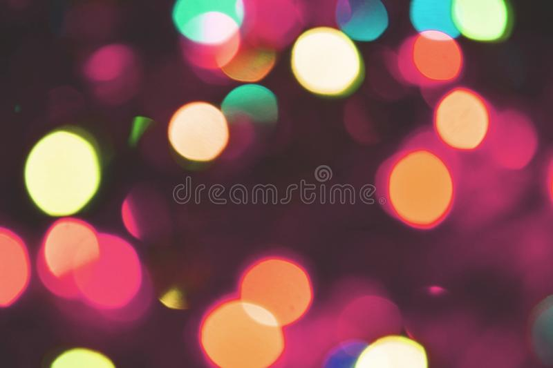 Colorful lights bokeh background, Chrismas royalty free stock images