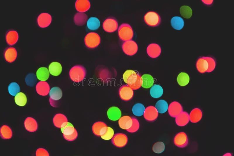 Colorful lights bokeh background, Chrismas stock photos