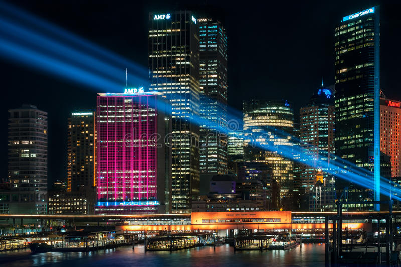Download Colorful Lights In The City At Vivid Sydney Festival Editorial Stock Photo - Image: 94169033
