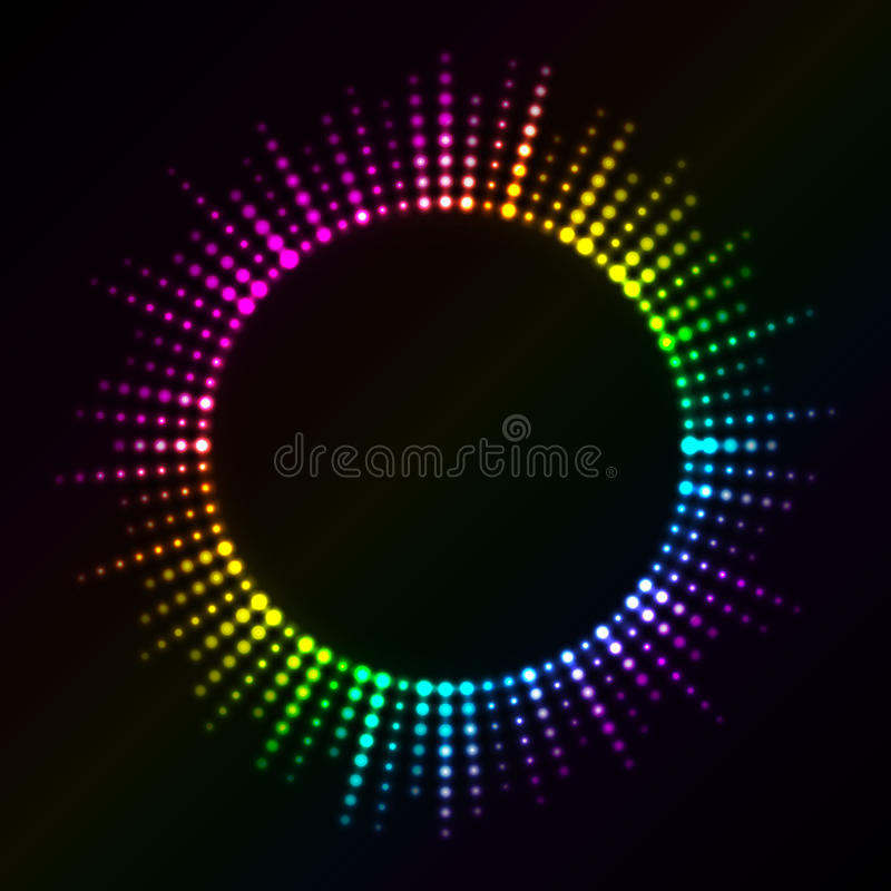 Colorful lights vector illustration