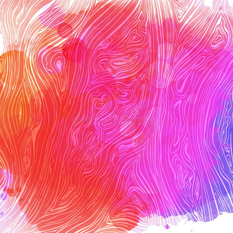 Colorful line background. Vector texture with hand drawn ink wavy strokes. Pink and violet colors. stock illustration