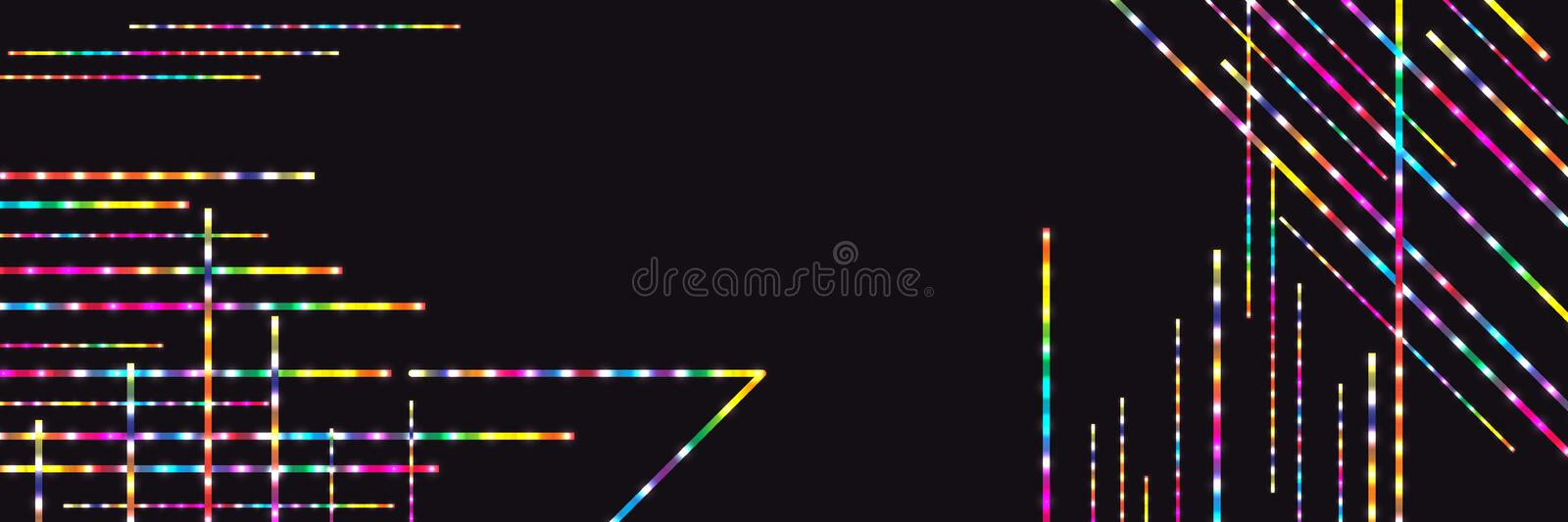 Colorful line bright banner RGB royalty free illustration