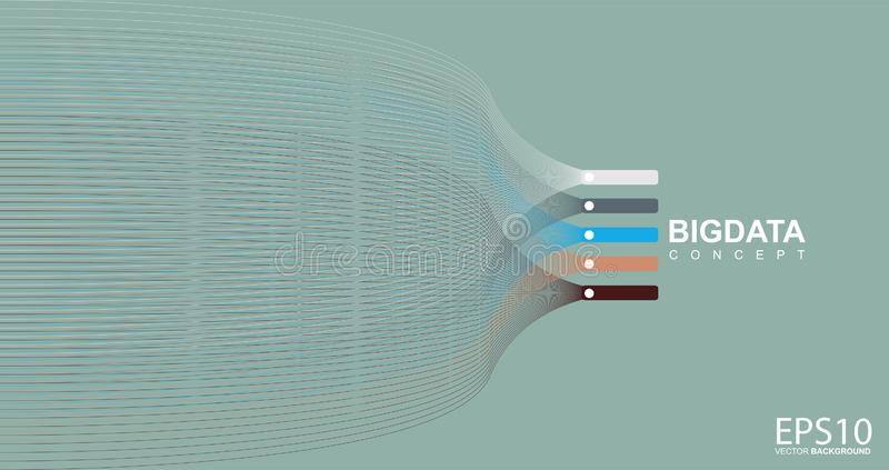 Colorful line pattern background. Big data concept stock illustration