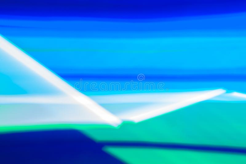 Colorful lines of lights in slow shutter speed, abstract photo stock photography
